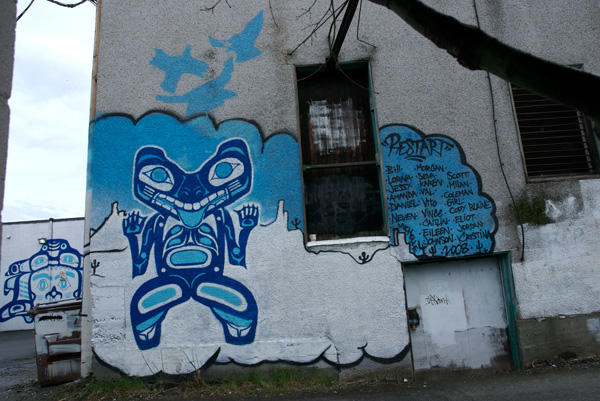 Mural from a graffiti art program in which Corey mentored young artists